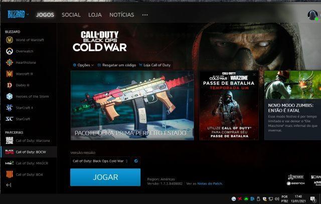 venda Conta black ops cold war / warzone pc