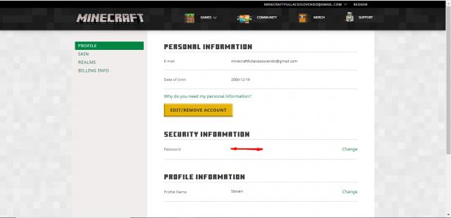 venda Vendo conta de Minecraft Full-Acesso!!