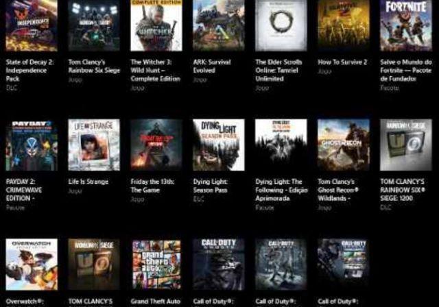 venda Conta Xbox One - Vários Jogos