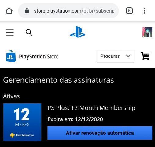 Conta PSN Brasil com mais de 50 Jogos e PS+ 2020