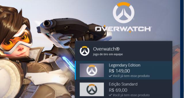 venda Conta Overwatch